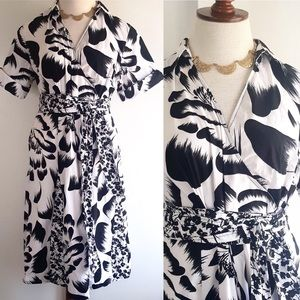 Lane Bryant Dress Faux Wrap Vtg Inspired Floral